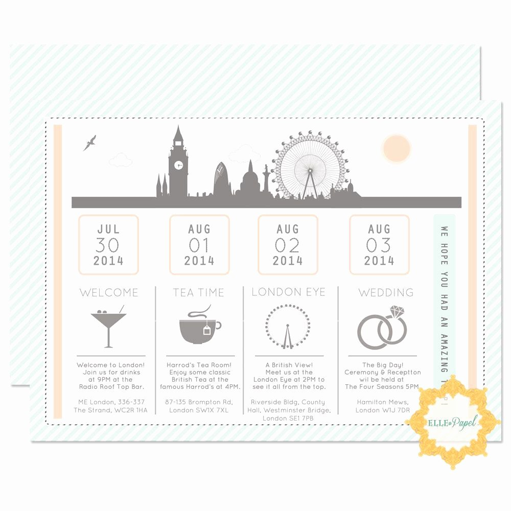 Destination Wedding Itinerary Template Lovely Pin by Kristen Alberda On Send Me A Postcard