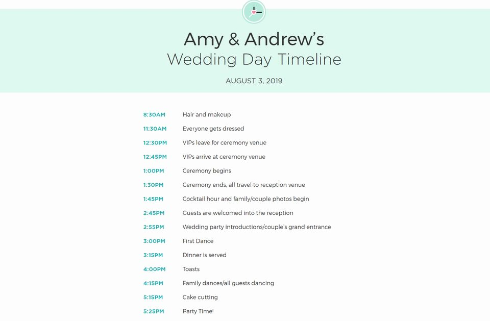 Destination Wedding Itinerary Template New Free Wedding Itinerary Templates and Timelines