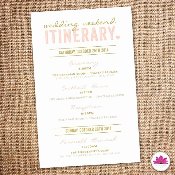 Destination Wedding Itinerary Template Unique Wedding Weekend Itinerary Digital File by eventswithgrace
