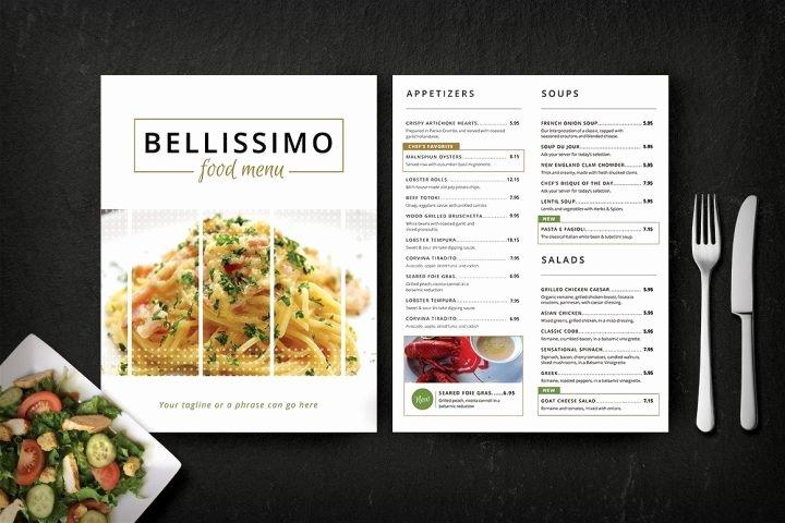 fine dining restaurant menu