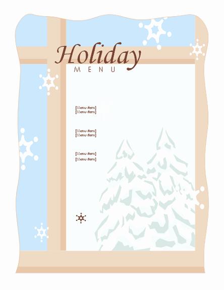 Dinner Menu Template Word Elegant Holiday Dinner Menu