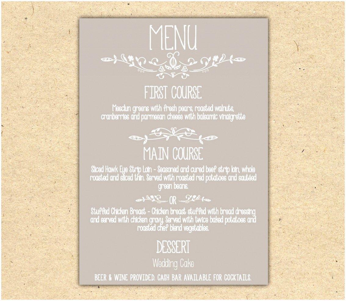 Dinner Menu Template Word Luxury 12 Dinner Party Menu Template Word Yaeie