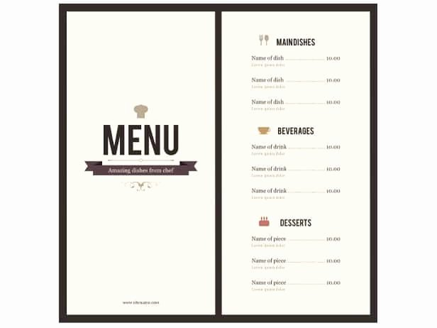 Dinner Menu Template Word New 8 Menu Templates Excel Pdf formats
