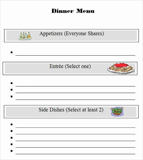 Dinner Menu Template Word Unique 34 Menu Templates Ai Psd Docs Pages