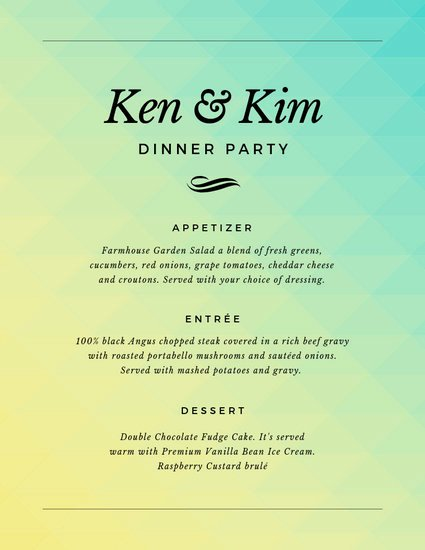 Dinner Party Menu Templates Best Of Customize 197 Dinner Party Menu Templates Online Canva