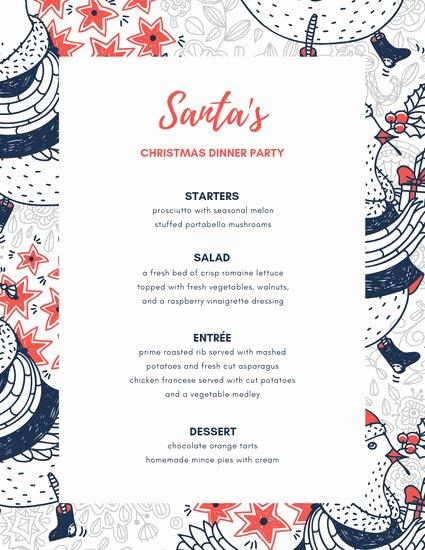 Dinner Party Menu Templates Inspirational Customize 197 Dinner Party Menu Templates Online Canva