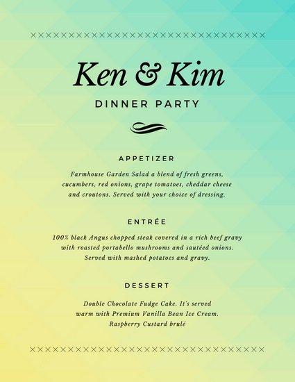 Dinner Party Menu Templates Inspirational Customize 404 Dinner Party Menu Templates Online Canva