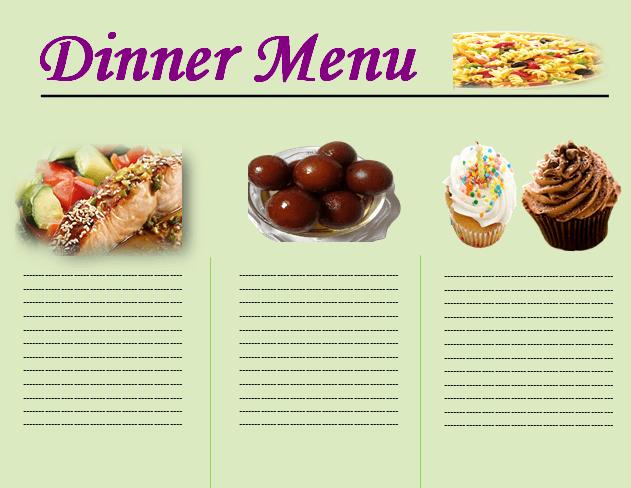 Dinner Party Menu Templates Inspirational Dinner Menu Template Choose From Beautiful Dinner Menus