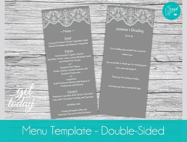 Dinner Party Menu Templates Inspirational Free 25 Dinner Party Menus In Illustrator