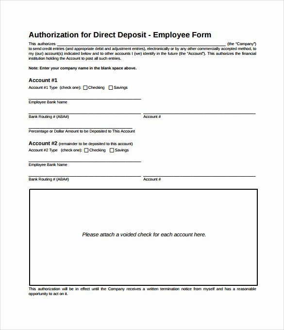 Direct Deposit form Template Word Beautiful Sample Direct Deposit Authorization form Examples 7
