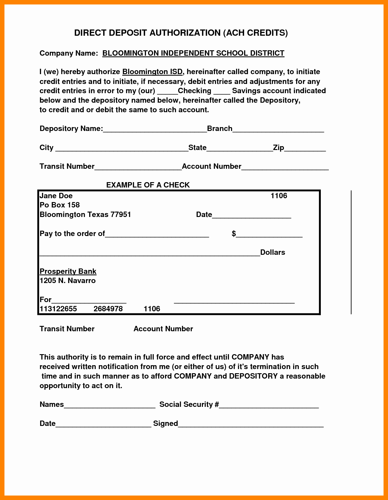 Direct Deposit form Template Word Inspirational 10 Securitas Direct Deposit form