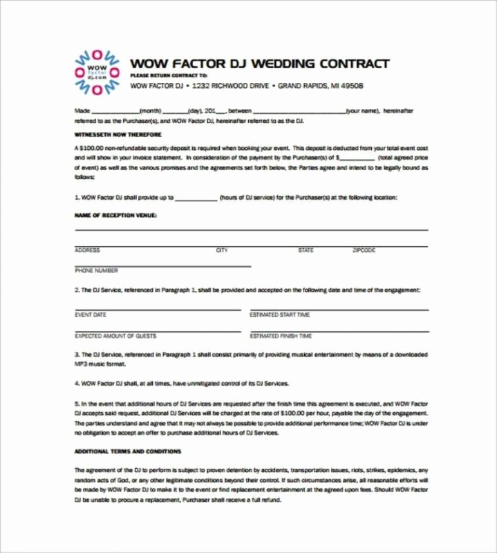 Disc Jockey Contracts Template New Disc Jockey Contracts Template
