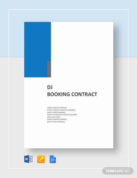 Dj Contract Template Microsoft Word Elegant 16 Dj Contract Templates Pdf Word Google Docs Apple