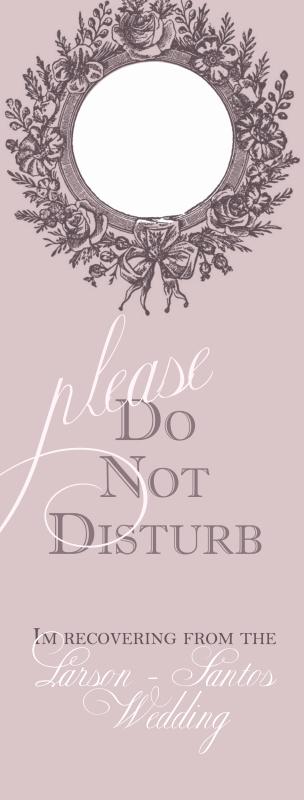 Do Not Disturb Sign Templates Elegant Diy Door Hangers Do Not Disturb Weddingbee