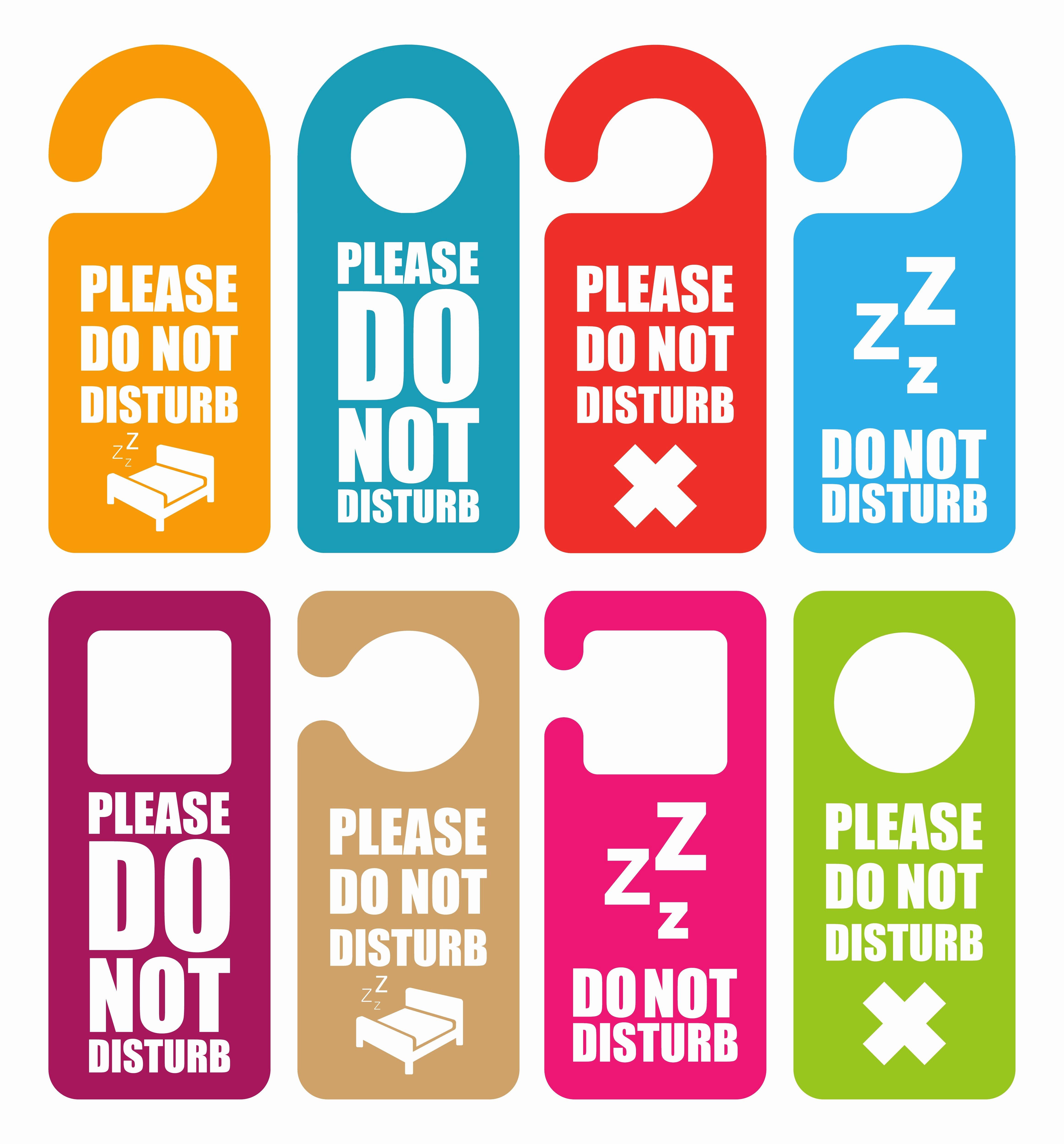 Do Not Disturb Sign Templates Inspirational Do Not Disturb Door Hanger Illustrations Creative Market