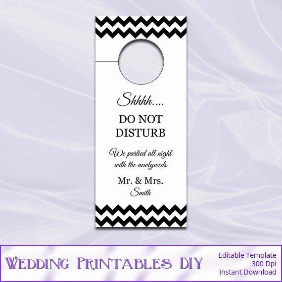 Do Not Disturb Sign Templates Luxury Items Similar to Wedding Door Hanger Template Diy Black