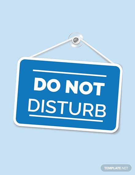 Do Not Disturb Sign Templates Unique Free Door Sign Template Download 12 Signs In Psd