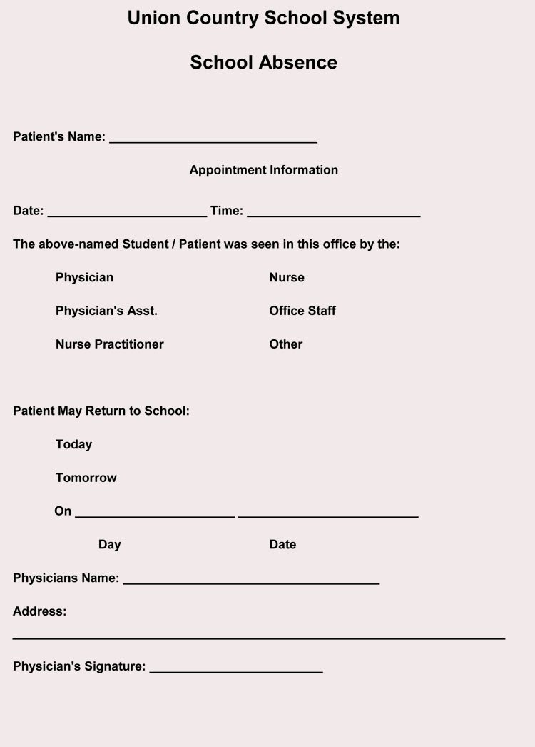 Doctor Excuse Note Template Beautiful Fake Doctors Note Templates & Excuses