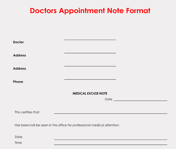 Doctor Excuse Note Template Best Of 36 Free Fill In Blank Doctors Note Templates for Work