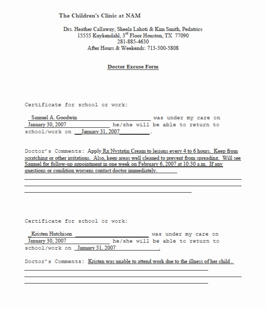 Doctor Note Template Pdf Elegant Download Doctors Note Templates Pdf Rtf