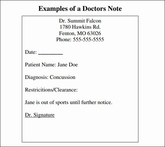 Doctor Note Template Pdf Luxury Free 33 Doctors Note Samples In Google Docs Pdf