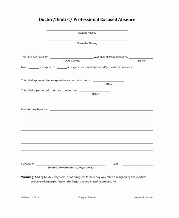 Doctor Notes for School Templates Beautiful Doctors Note Template for School 6 Free Word Pdf
