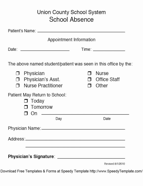 Doctor Notes for School Templates Lovely Free Fake Doctors Note Template Download – Impressive