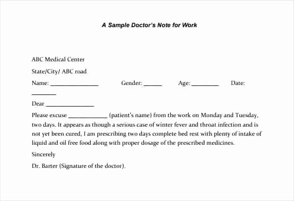 Doctors Excuses for Work Template Fresh Azulnaranja