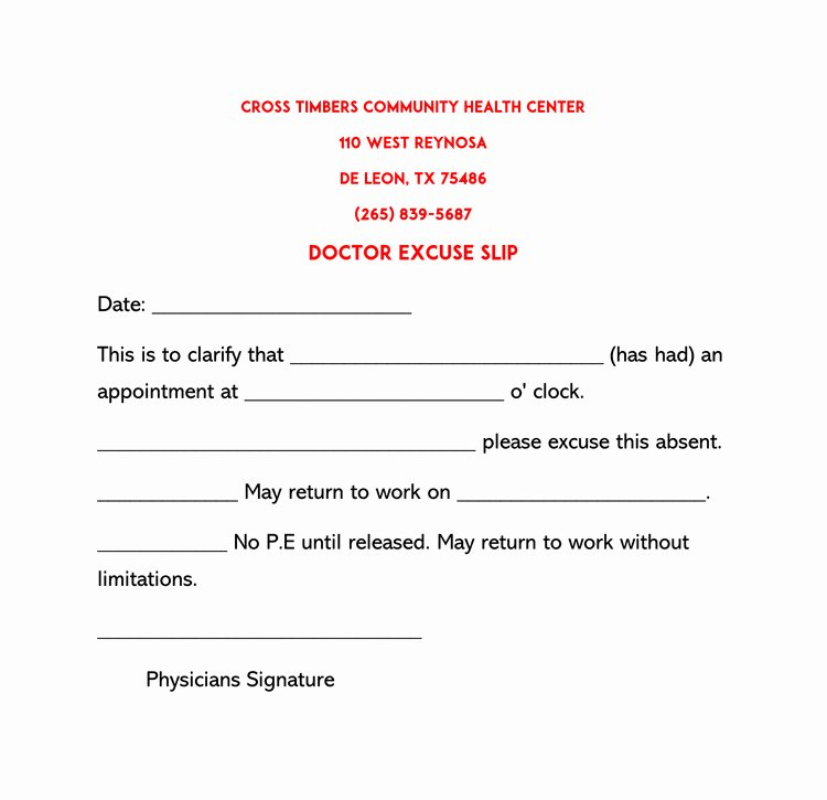 Doctors Note for Work Template Fresh 36 Free Fill In Blank Doctors Note Templates for Work