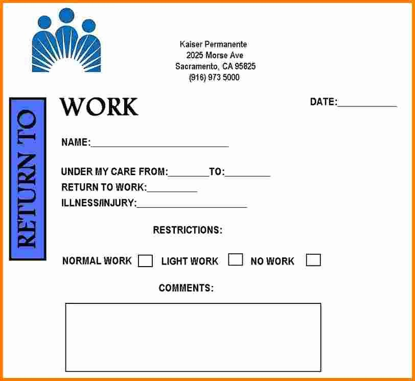 Doctors Note for Work Template Inspirational Free Printable Doctors Note for Work