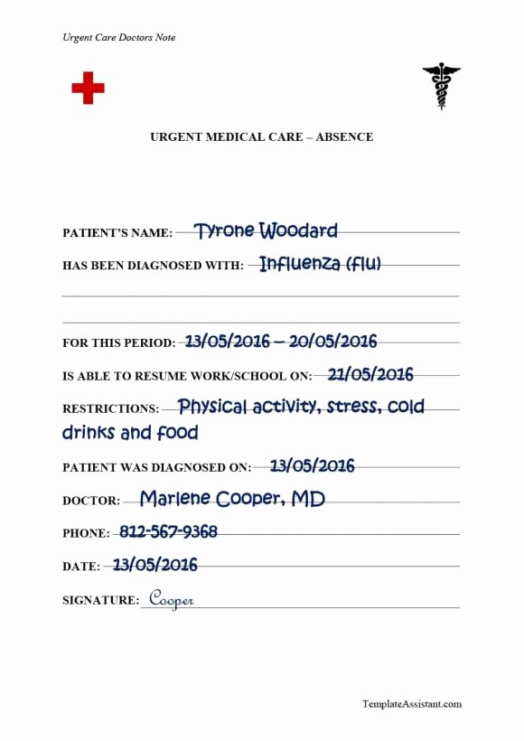 Doctors Note Template for Work Awesome 40 Fake Doctors Note Template Download [pdf Doc]