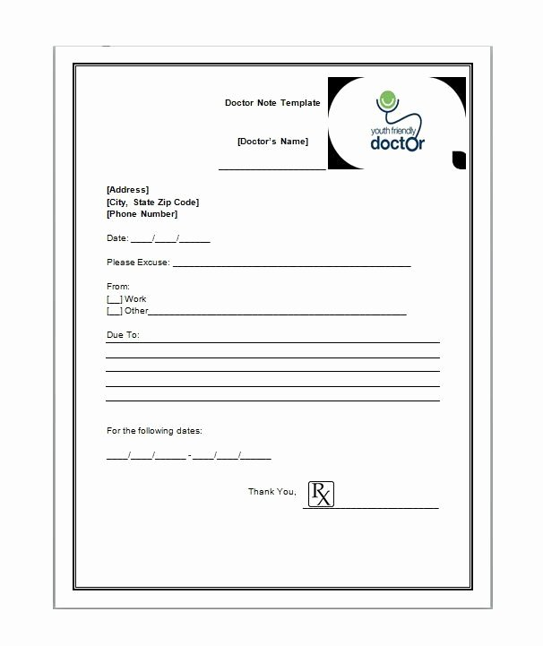 Doctors Note Template for Work Lovely 21 Free Doctor Note Excuse Templates Template Lab