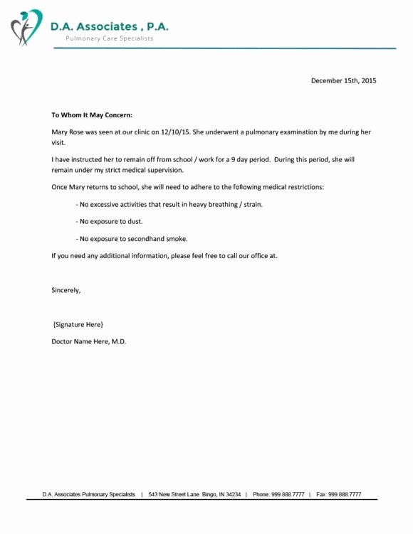 Doctors Note Template for Work Luxury 40 Fake Doctors Note Template Download [pdf Doc]