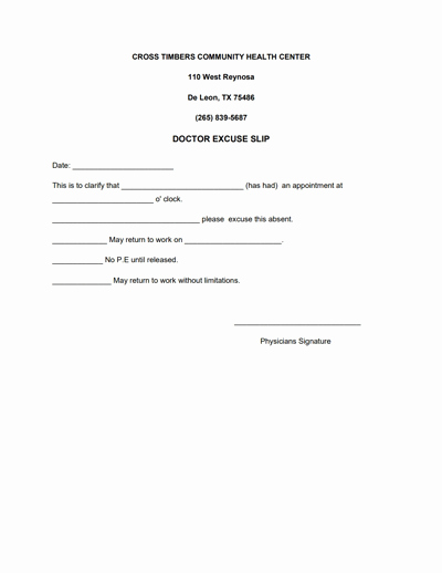 Doctors Note Template Free Best Of Doctors Note for Work Template