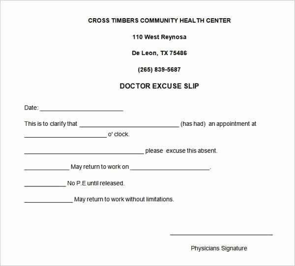 Doctors Note Template Microsoft Word Awesome 4 Free Doctors Note for Work Templates Word Excel