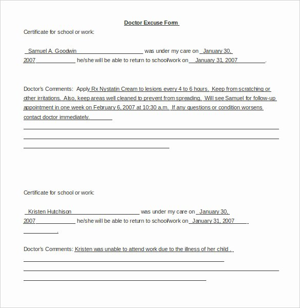 Doctors Note Template Microsoft Word Elegant 22 Doctors Note Templates Free Sample Example format