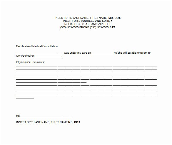 Doctors Note Template Pdf Awesome 9 Doctor Excuse Templates Pdf Doc