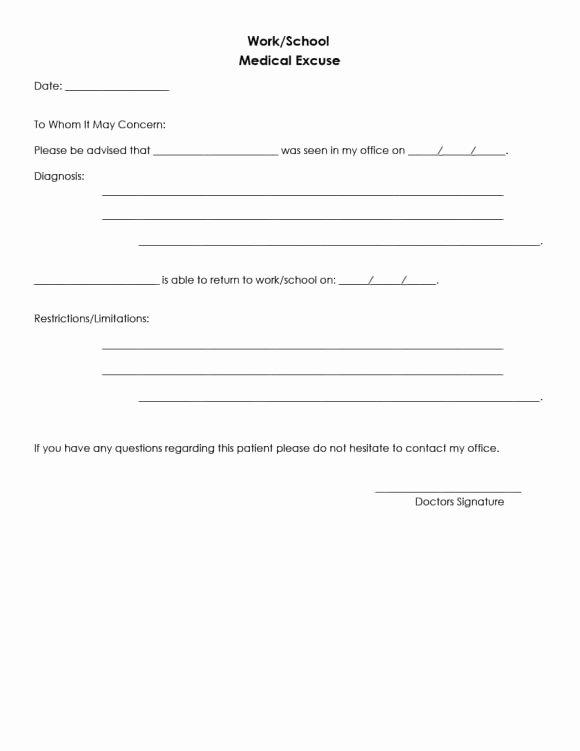 Doctors Note Template Pdf Best Of Doctors Note for School