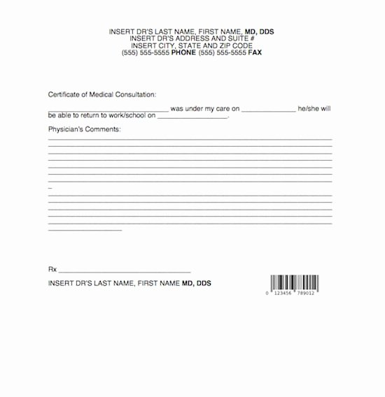 Doctors Note Template Word Best Of Doctor Note Template formats Examples In Word Excel