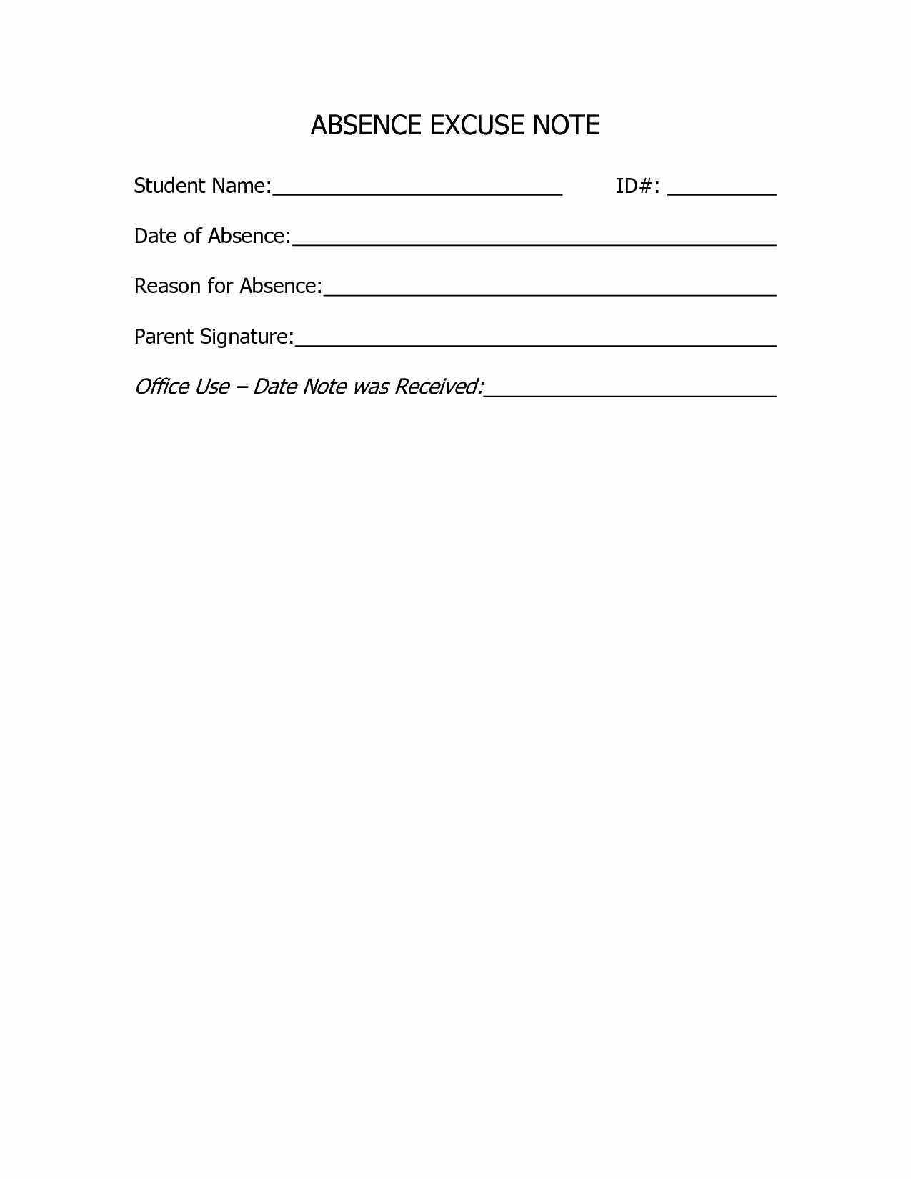Doctors Notes for School Template Awesome Best S Of Doctors Excuse for School Doctors Excuse
