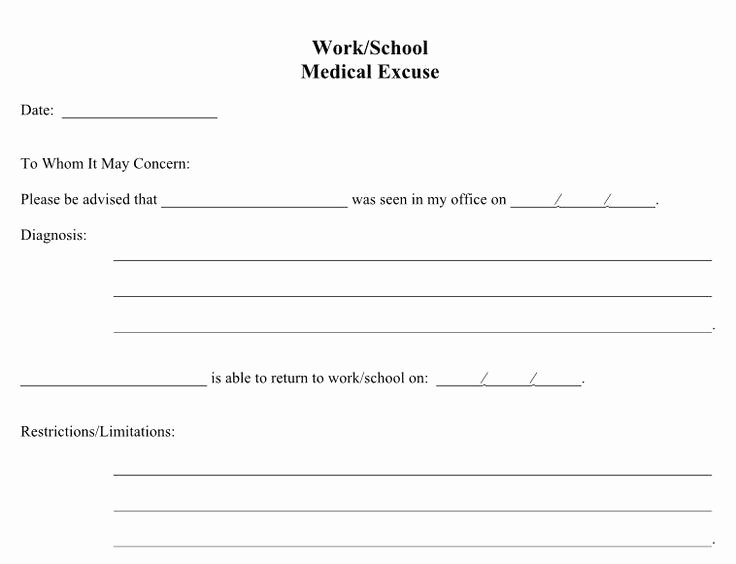 Doctors Notes for School Template Unique 21 Free Doctor Note Excuse Templates Template Lab