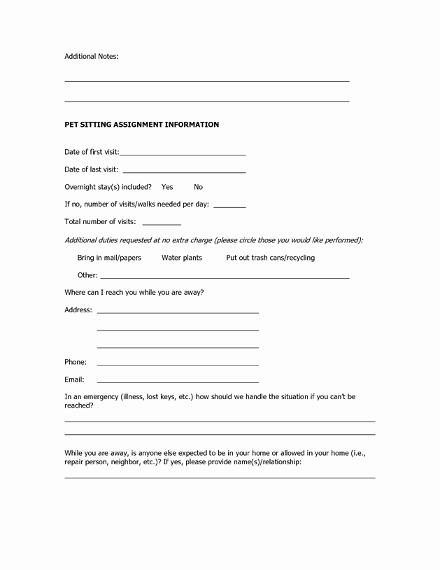 Dog Training Contract Template Fresh Dog Sitting form Scout About Pets Inc Dogs