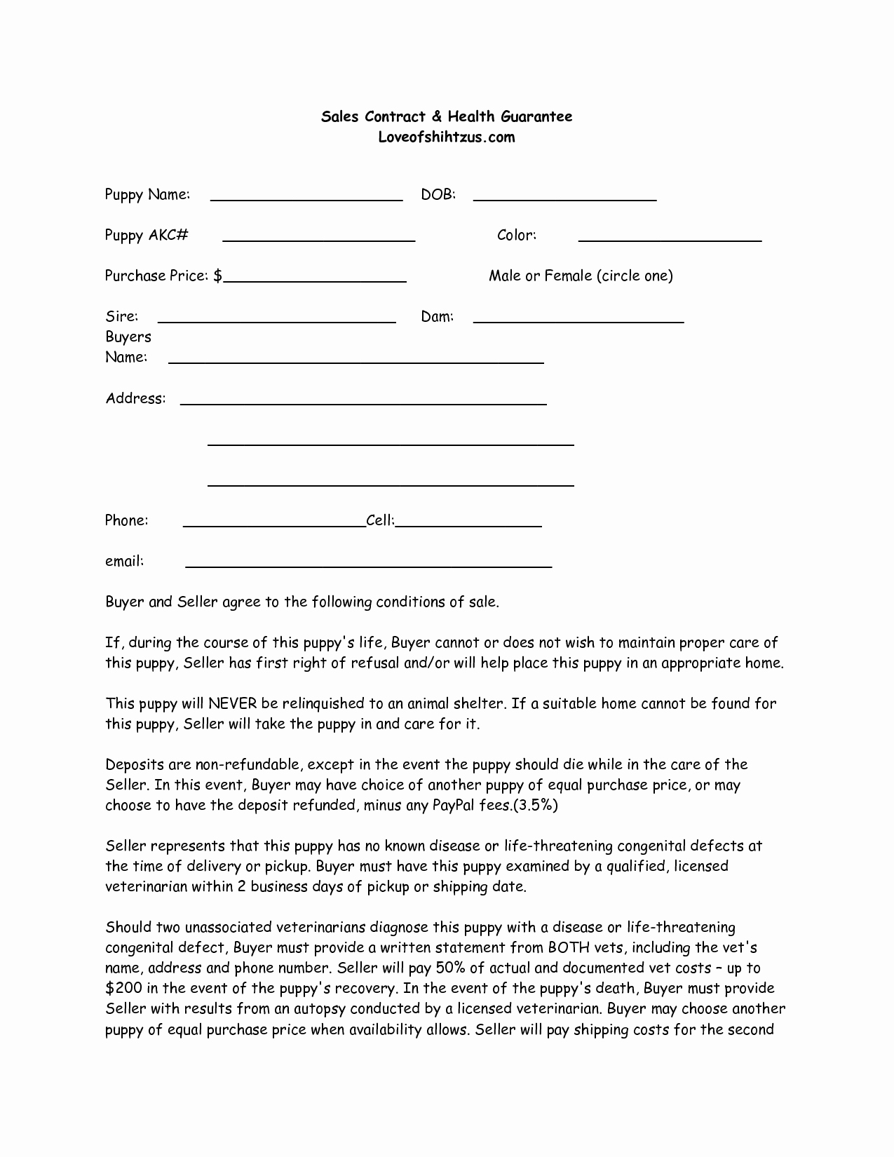 Dog Training Contract Template Fresh Puppy Sale Contract Template Success