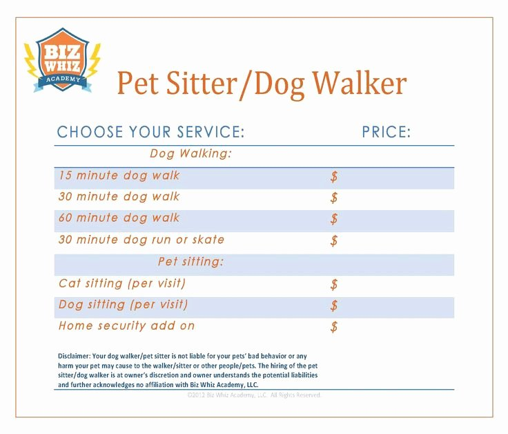 Dog Training Contract Template Inspirational 12 Best Images About Pet Sitter Dog Walker Business On