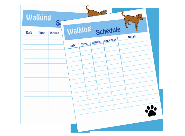 Dog Training Contract Template Inspirational Dog Walking Schedule Laminating Idea Center