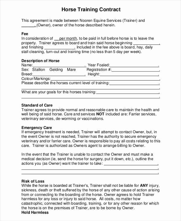 Dog Training Contract Template New 9 Training Contract Samples & Templates In Pdf