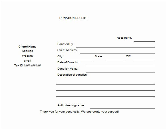 Donation form Template Pdf Best Of Free 6 Printable Charitable Donation Receipt Template