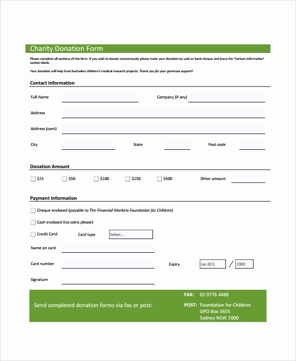 Donation form Template Pdf Best Of Sample Donation form 6 Documents In Pdf Word