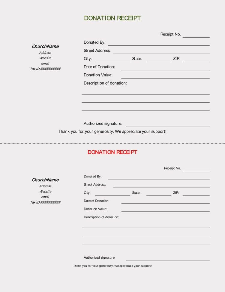 Donation form Template Pdf Elegant 45 Free Donation Receipt Templates & formats Docx Pdf