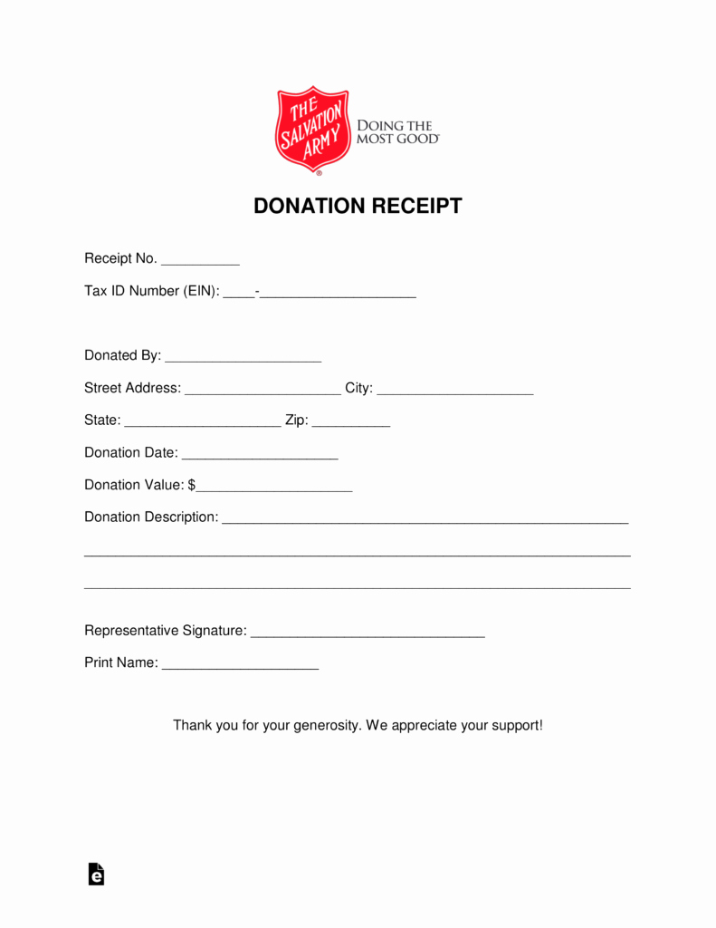 Donation form Template Pdf Elegant Free Salvation Army Donation Receipt Pdf Word